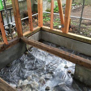 土間コンクリート 防湿シート張り