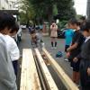 伝統工法と中学生