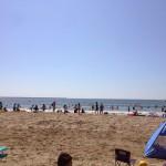 大洗サンビーチで海水浴