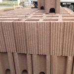 城屋根の家ブロック積み