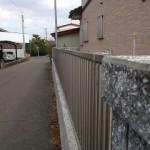 ブロック積みとフェンス設置