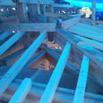 城屋根の家 化粧垂木